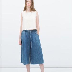 Zara TRF Denim Culottes